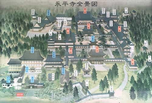 永平寺の鳥観図(吹田市紅葉山会館の葬儀の豆知識)